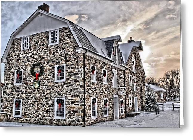 The Grist Mill And Ye Old Tavern Greeting Card by DJ Florek