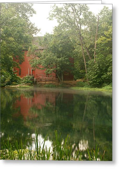 The Grist Mill At Alley Springs Take 3 Greeting Card