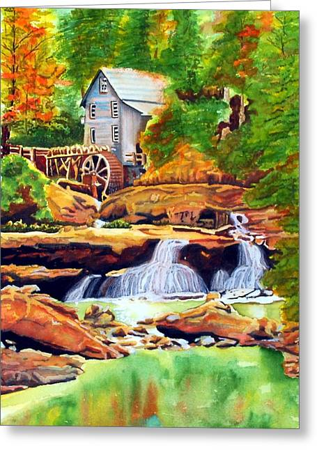 The Grist Mill Greeting Card by Gerald Carpenter