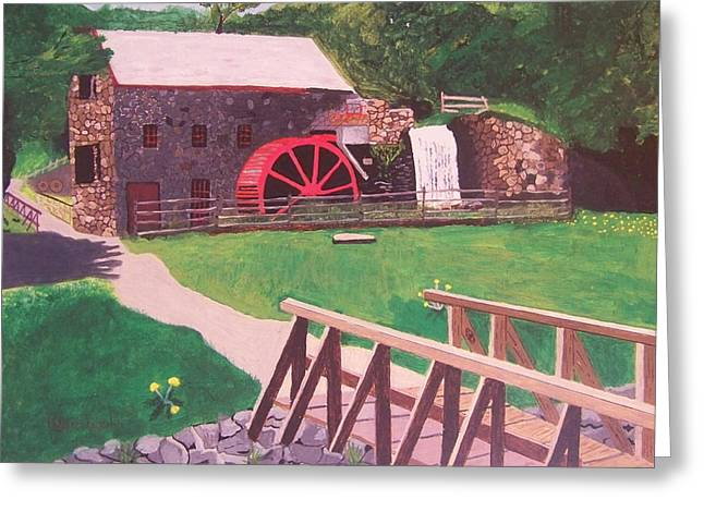 Sudbury Ma Greeting Cards - The Gristmill at Wayside Inn Greeting Card by William Demboski
