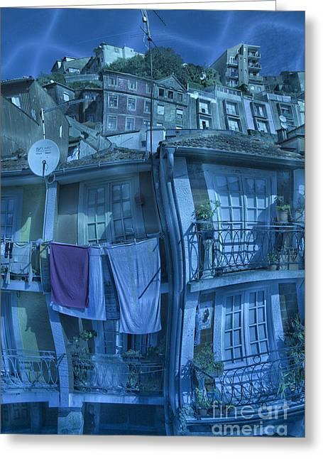 The Groggy Blue House Greeting Card