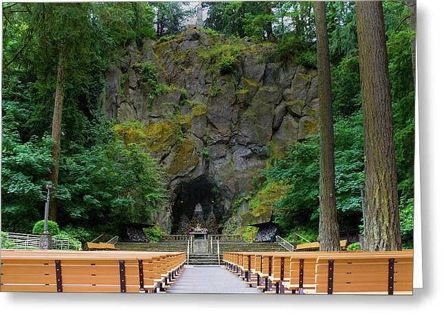 The Grotto, National Sanctuary Of Our Sorrowful Mother Greeting Card