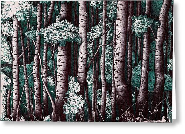The Grove At Sand Creek Greeting Card by Teddy Campagna