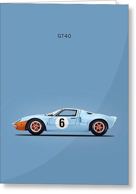The Gt40 Greeting Card