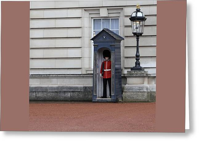 The Guard At Buckingham Palace Greeting Card