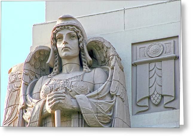 The Guardian Angel On Watch Greeting Card