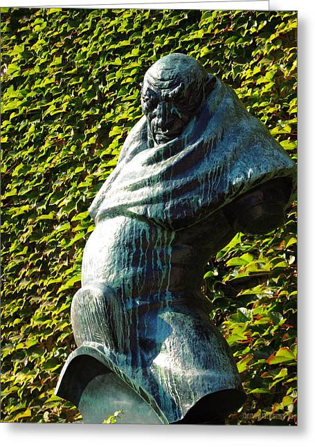 The Guardian Of The Garden Greeting Card by Garth Glazier