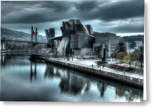 The Guggenheim Museum Bilbao Surreal Greeting Card