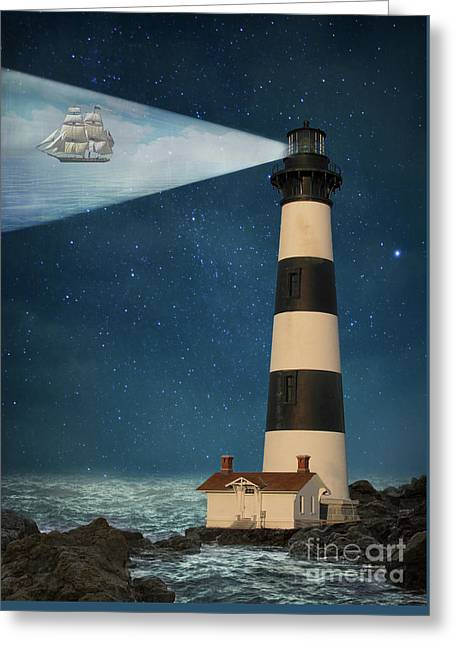 Greeting Card featuring the photograph The Guiding Light by Juli Scalzi