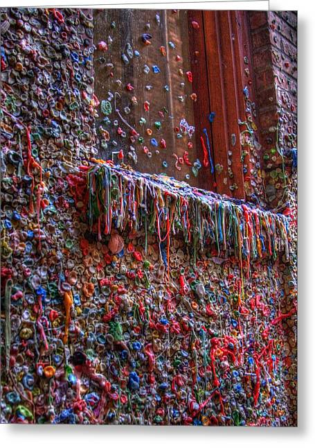 The Gum Wall - Seattle Greeting Card