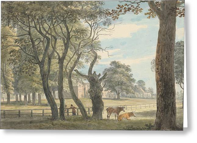 The Gunpowder Magazine, Hyde Park Greeting Card by Paul Sandby