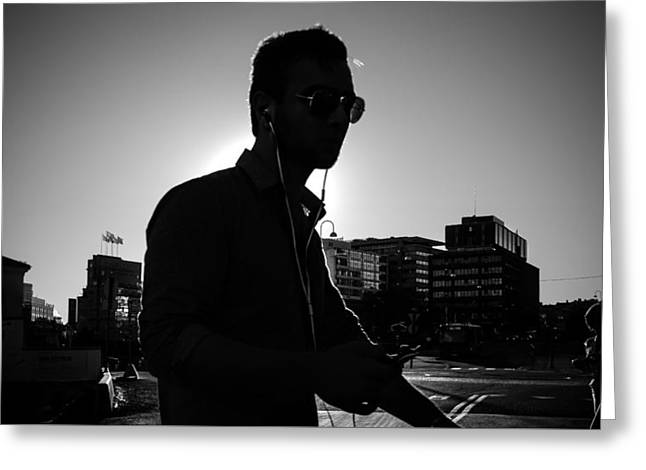 The Guy - Oslo, Norway - Black And White Street Photography Greeting Card