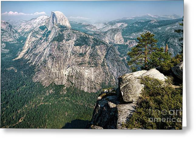 The Half Dome Yosemite Np Greeting Card