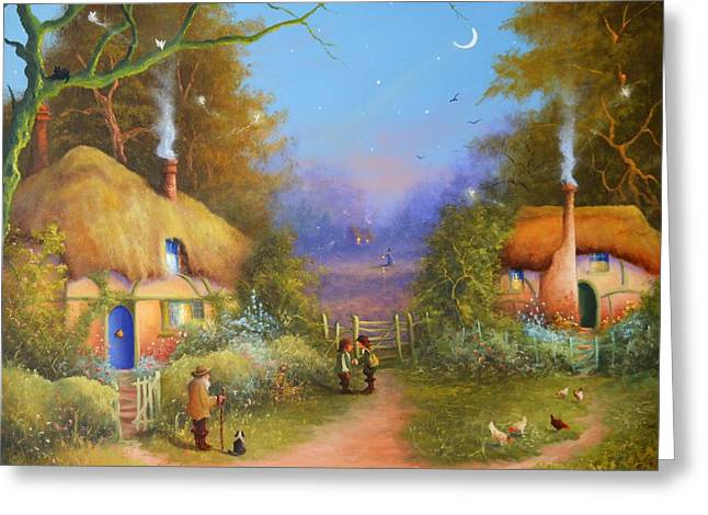 The Hamlet Of Gnarl Mid Summers Eve Greeting Card