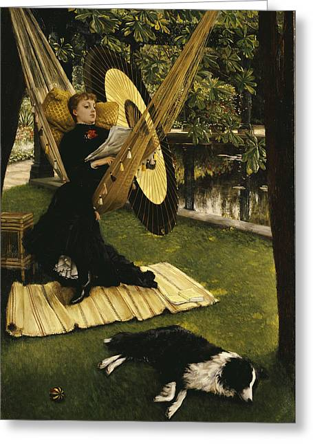 Stillness Greeting Cards - The Hammock Greeting Card by James Jacques Joseph Tissot