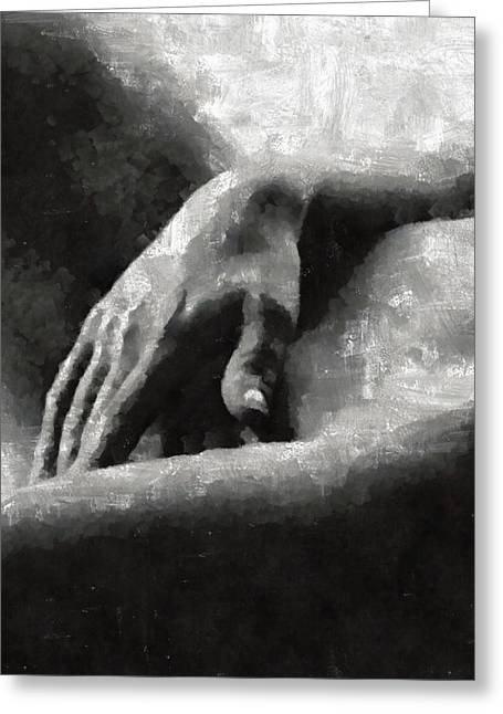 The Hand By Mary Bassett Greeting Card