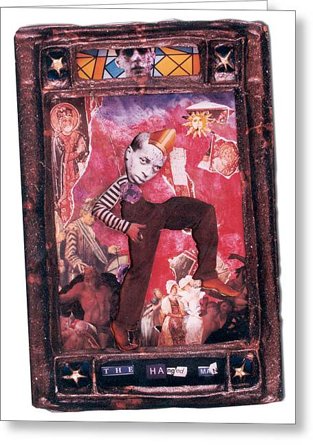The Hanged Man - Tarot Card Greeting Card by Max Scratchmann