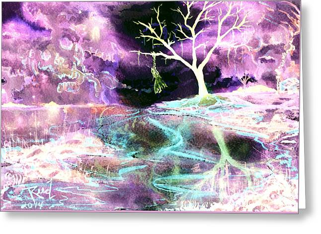 The Hanging Tree Inverted Greeting Card