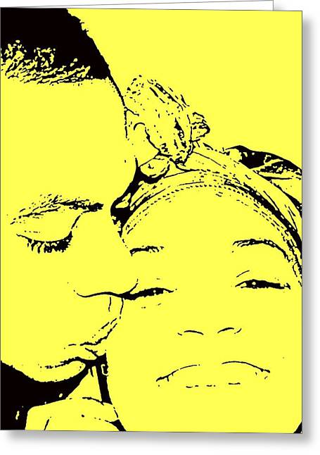 The Happy Couple  Greeting Card by D R TeesT