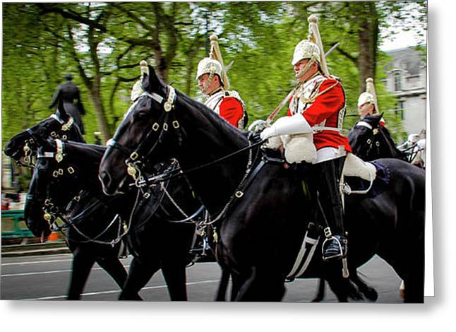 The Happy Horse Guard Greeting Card