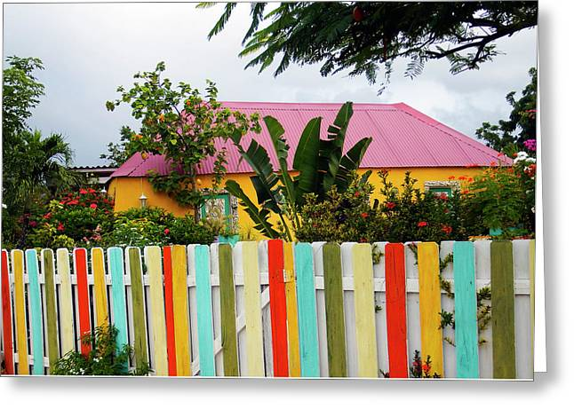 Greeting Card featuring the photograph The Happy House, Island Of Curacao by Kurt Van Wagner