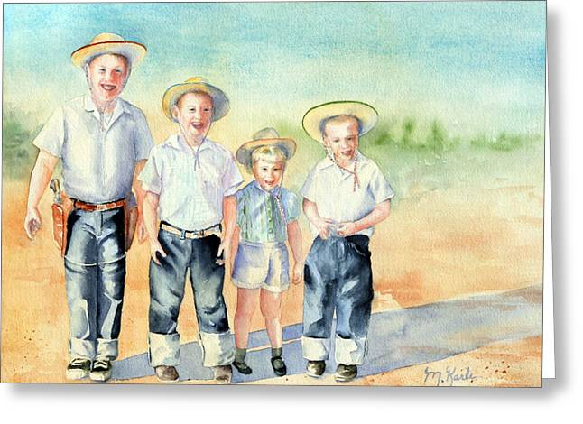 The Happy Wranglers Greeting Card