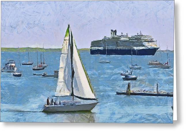 The Harbor At Rockland Maine Greeting Card