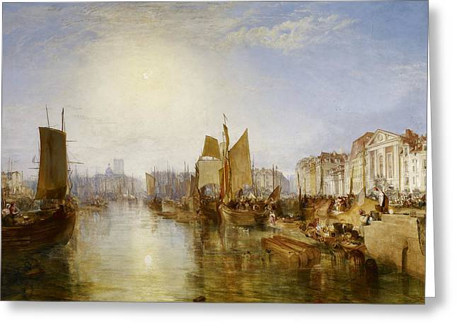 The Harbor Of Dieppe Greeting Card