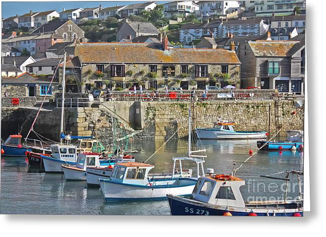 The Harbour Inn Porthleven Greeting Card