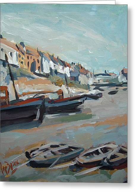 The Harbour Of Mevagissey Greeting Card