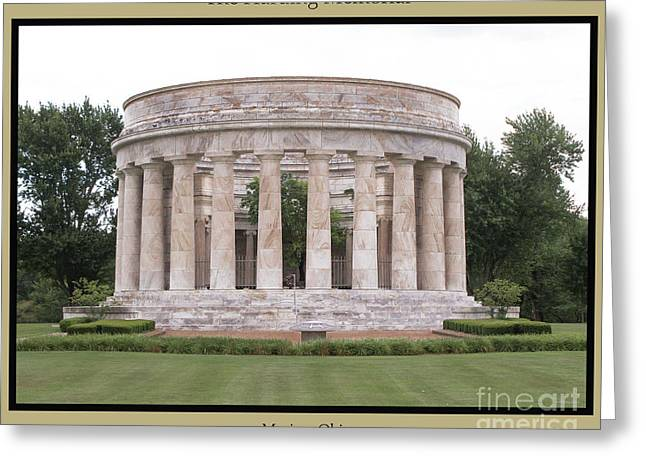 The Harding Memorial In The Summer Greeting Card