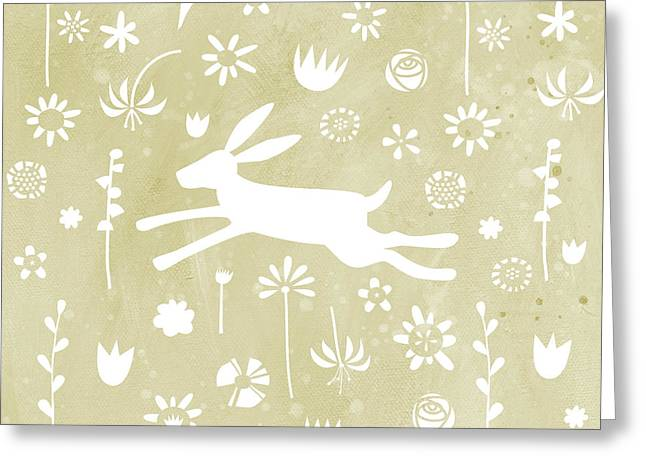 The Hare In The Meadow Greeting Card by Nic Squirrell