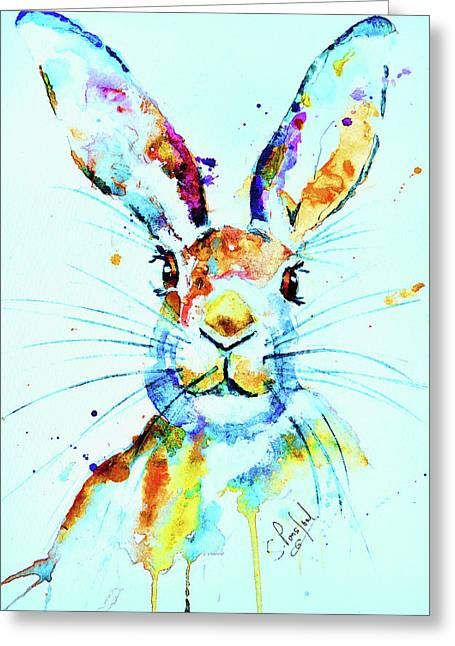 Greeting Card featuring the painting The Hare by Steven Ponsford