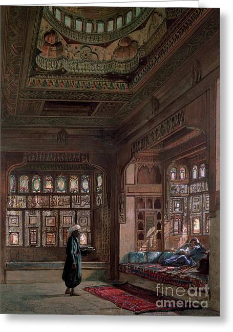 The Harem Of Sheikh Sadat, Cairo, 1870 Greeting Card