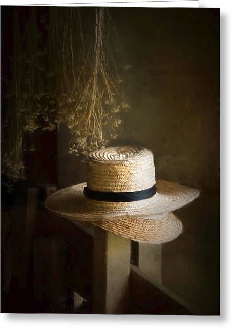 Greeting Card featuring the photograph The Harvester's Hat by Robin-Lee Vieira