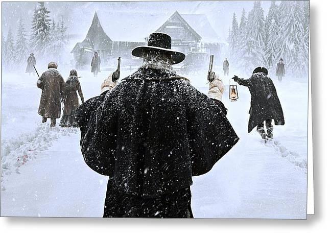The Hateful Eight Greeting Card by Movie Poster Prints