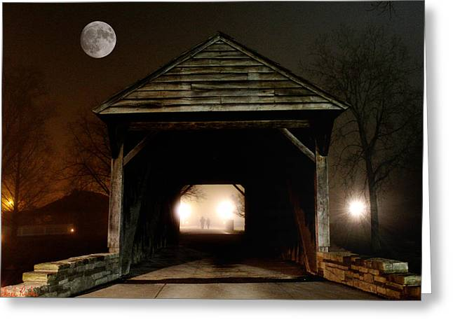 The Haunted Bridge Greeting Card