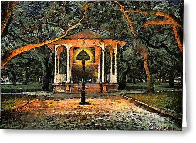 The Haunted Gazebo Greeting Card