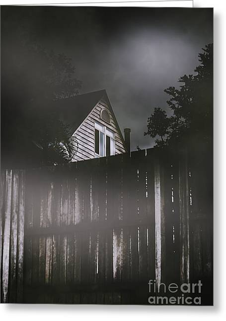 The Haunts Live Next Door Greeting Card by Jorgo Photography - Wall Art Gallery