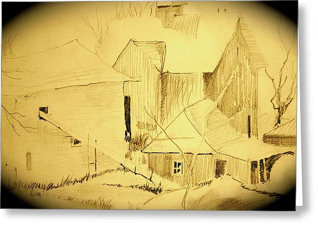 The Hay Loft Greeting Card by Chris  Riley