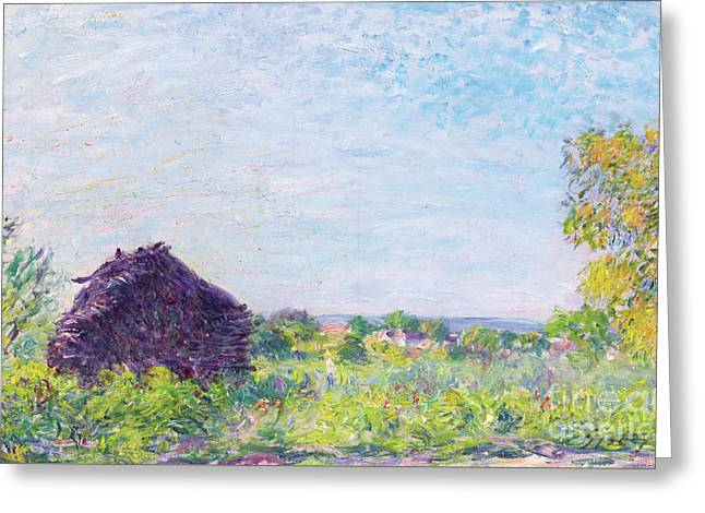 The Haystack, 1877 Greeting Card by Alfred Sisley