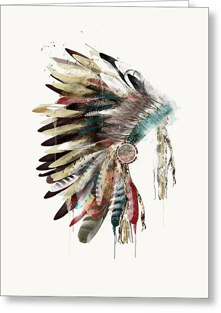The Headdress Greeting Card