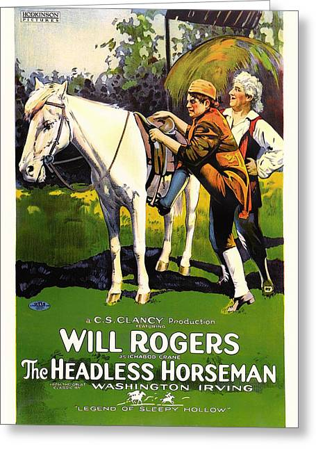 The Headless Horseman 1922 Greeting Card by Mountain Dreams