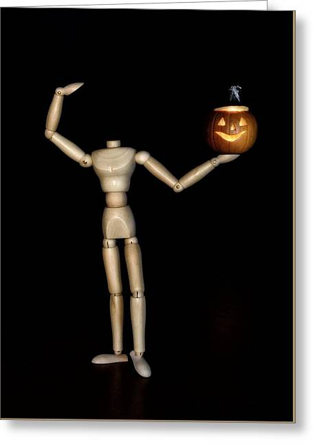The Headless Woody Greeting Card by Mark Fuller