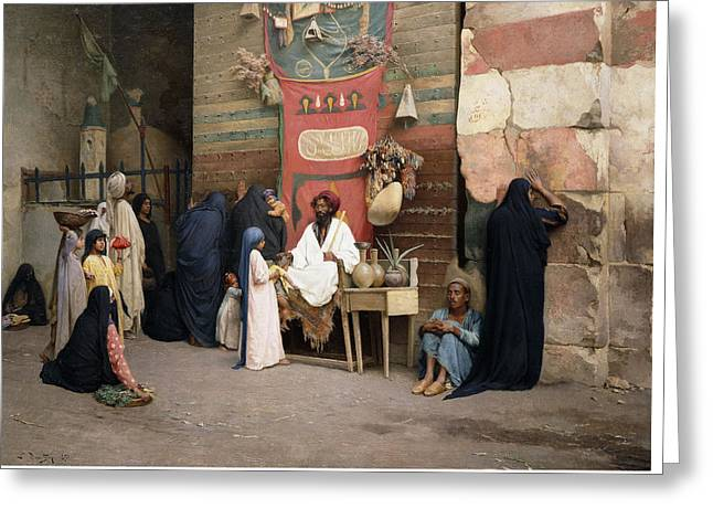 The Healer, 1891 Greeting Card by Ludwig Deutsch