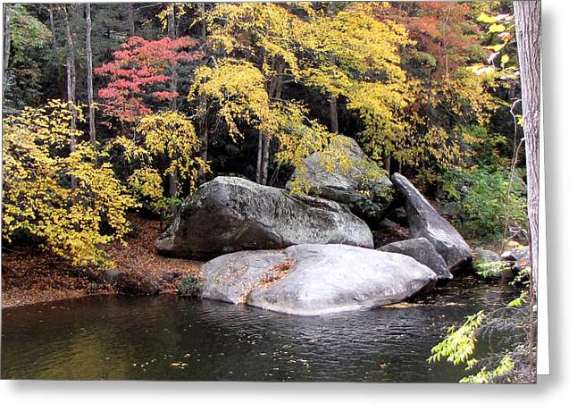 The Healing Rock Greeting Card by Pauline Ross