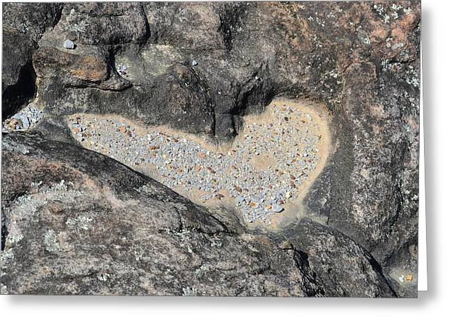 The Heart In Stone Greeting Card by rd Erickson
