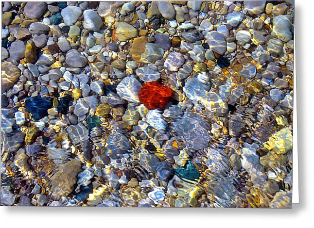 Greeting Card featuring the photograph The Heart Of Lake Michigan by SimplyCMB