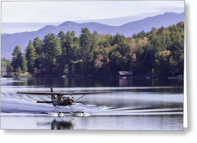 The Heart Of Long Lake Greeting Card by Everet Regal