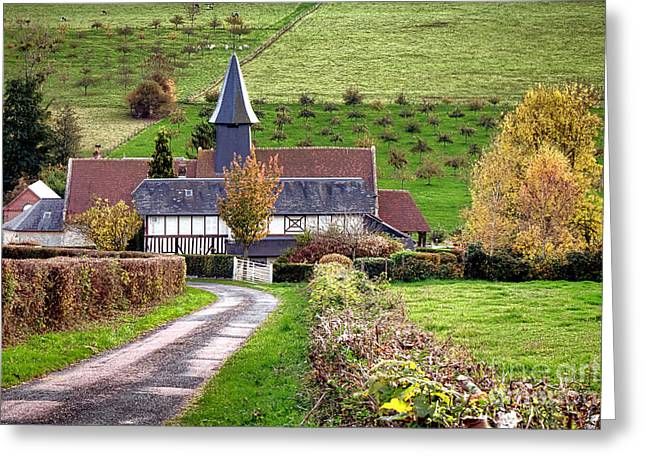 The Heart Of Normandy Greeting Card by Olivier Le Queinec